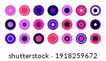 colored round shapes. set of... | Shutterstock .eps vector #1918259672