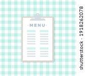 clipboard icon. menu restaurant.... | Shutterstock .eps vector #1918262078