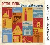 Travel Destination Icons Set....
