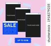 shopping retro social media... | Shutterstock .eps vector #1918279235