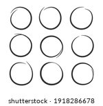 collection of hand drawn black... | Shutterstock .eps vector #1918286678