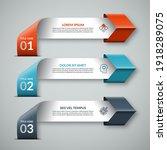 arrow infographic template in... | Shutterstock .eps vector #1918289075