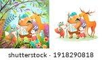 animals nature adventure for...   Shutterstock .eps vector #1918290818