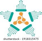 digital star or technological...   Shutterstock .eps vector #1918315475