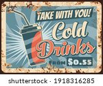 cold drinks rusty metal plate ... | Shutterstock .eps vector #1918316285