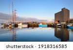 Sailboats Moored To A Pier In A ...