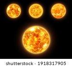 realistic sun globe in space ...