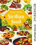 sicilian food vector stuffed...   Shutterstock .eps vector #1918334138