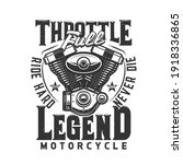 motorcycle engine vector t... | Shutterstock .eps vector #1918336865