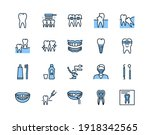 Dentistry Flat Line Icon Set...
