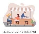 coffee shop vector concept.... | Shutterstock .eps vector #1918342748