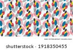 pattern with colourful ovals ... | Shutterstock .eps vector #1918350455