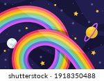 rainbow. background  with...   Shutterstock .eps vector #1918350488