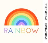 rainbow. background  with... | Shutterstock .eps vector #1918350518
