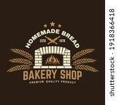 Bakery Shop Badge  Logo. Vector....