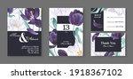 floral wedding invitation card... | Shutterstock .eps vector #1918367102
