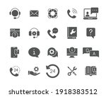 help and support glyph icon set.... | Shutterstock .eps vector #1918383512