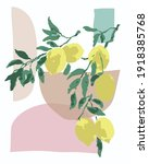 vector wall art mid century...   Shutterstock .eps vector #1918385768
