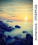 Soft Sunset. Natural Landscape...