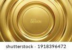 golden circular background.... | Shutterstock .eps vector #1918396472