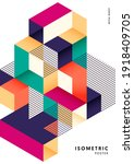 isometric geometric shape...   Shutterstock .eps vector #1918409705