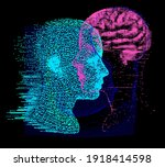 3d illustration human brain...   Shutterstock .eps vector #1918414598