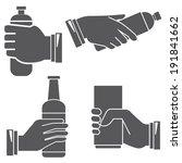 Hand Holding Bottle Sign