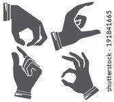 hand gesture sign | Shutterstock .eps vector #191841665