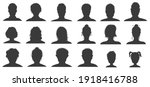 people silhouettes. user avatar ... | Shutterstock .eps vector #1918416788