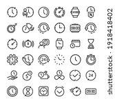 36 time icon vector...   Shutterstock .eps vector #1918418402