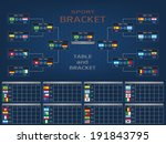 sport bracket and score table... | Shutterstock .eps vector #191843795