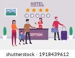 hotel vector concept  young...   Shutterstock .eps vector #1918439612