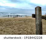 Wooden Fence By The Ocean Beach ...