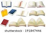 illustration of the empty books ...