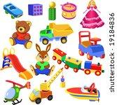 set of toys   Shutterstock .eps vector #19184836
