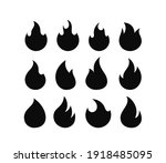 flame silhouettes isolated on... | Shutterstock .eps vector #1918485095