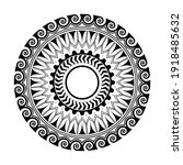 maori circle tattoo shape ... | Shutterstock .eps vector #1918485632