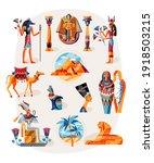 ancient egypt art history set.... | Shutterstock .eps vector #1918503215