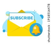 subscribe button on envelope...