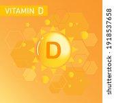 vitamin d bubble and logo... | Shutterstock .eps vector #1918537658