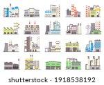 industrial factory buildings....   Shutterstock .eps vector #1918538192