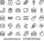 food line icon set   burger ... | Shutterstock .eps vector #1918539362