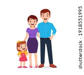 cute little girl with mom and... | Shutterstock .eps vector #1918551995