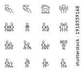 volunteering and charity line... | Shutterstock .eps vector #1918559168