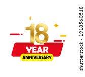 18 year anniversary set vector...   Shutterstock .eps vector #1918560518