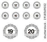 set year anniversary set vector ...   Shutterstock .eps vector #1918569032