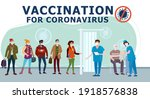 vaccination people for covid 19.... | Shutterstock .eps vector #1918576838
