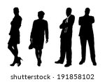 vector silhouettes of different ... | Shutterstock .eps vector #191858102