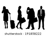 vector silhouette of business... | Shutterstock .eps vector #191858222