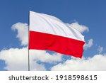 Poland flag isolated on the...